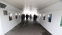 Onthulling kunstwerken leerlingen Triade in fietstunnel N247