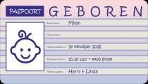 Geboren: Milan Zwarthoed