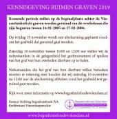 KENNISGEVING RUIMEN GRAVEN 2019