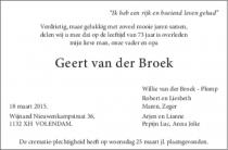 Dhr. G. van der Broek
