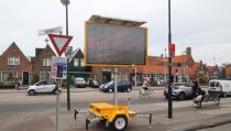 Waarschuwingsbord tegen autodieven