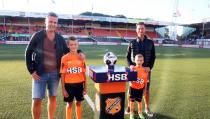 Job en Jim Tuyp de mascottes van FC Volendam