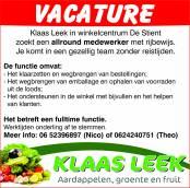 vacature Klaas Leek