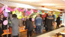 Presentatiemarkt in de aula van het DBC
