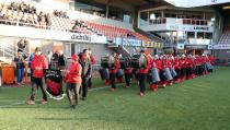 Optreden van sambaband in het Kras-stadion
