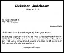 Christiaan Lindeboom