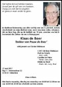Dhr. K. de Boer