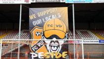 Groot spandoek gemaakt voor FC Volendam