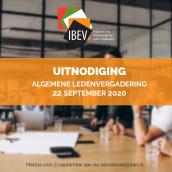 Uitnodiging IBEV - ALV