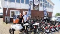 Mooie beleving om met de E-choppers te rijden van 'Volendam Rent & Event'