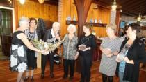 Vijf jubilarissen van het Dameskoor