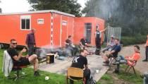 Barbecue voor  rioolaanleggers en stratenmakers