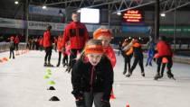 Vrijdag de 100 meter proef schaatsen voor jeugd