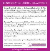 KENNISGEVING RUIMEN GRAVEN 2018